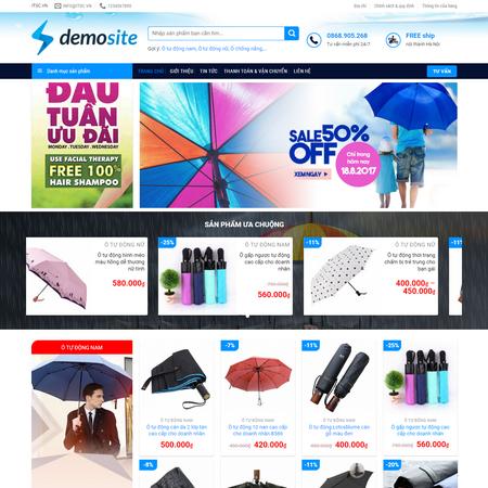 Mẫu web shop dung cụ ngoài trời - web shop thời trang outdoor