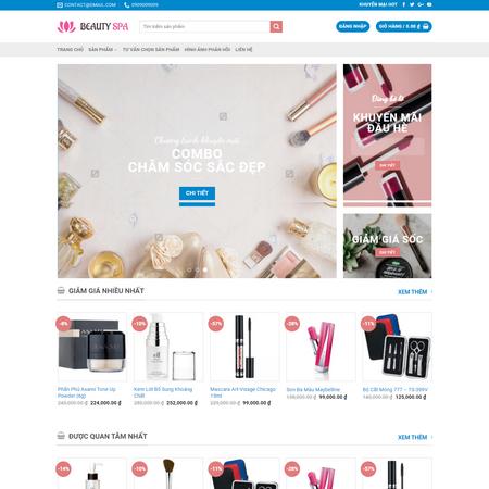 Mẫu website shop dụng cụ spa - website bán hàng online shop