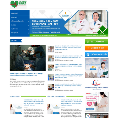 Mẫu website phòng khám - bệnh viện - dịch vụ y tế y tế